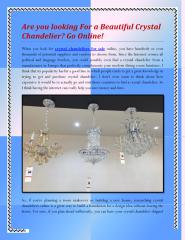 Are you looking For a Beautiful Crystal Chandelier Go Online.pdf