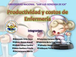 PRODUCTIVIDAD Y COSTOS EN ENFERMERÍA 1.ppt