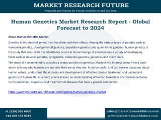 Human Genetics Market.pdf