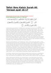 Tafsir Ibnu Katsir Surah Ali 16-17.docx