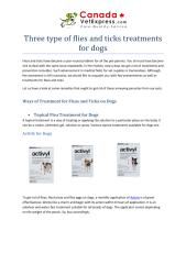 Three type of flies and ticks treatments for dogs.pdf