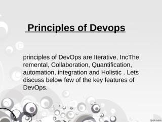 DevOps Online Training and principles of DevOps.ppt