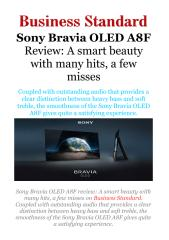 Sony Bravia OLED A8F Review - A smart beauty with many hits, a few misses.pdf