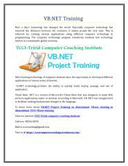 VB.NET Training .doc