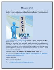 MCA course.doc