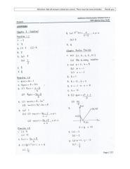 Additional Mathematics Form 4 Module - Answer Sheet