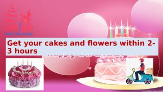 Get your cakes with free beautiful flowers online from CakenGifts.in.pptx