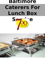 Baltimore Caterers For Lunch Box Service ppt.pptx