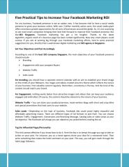Five Practical Tips to Increase Your Facebook Marketing ROI.pdf