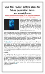 Vivo Nex review Setting stage for future generation bezel less smartphones.pdf