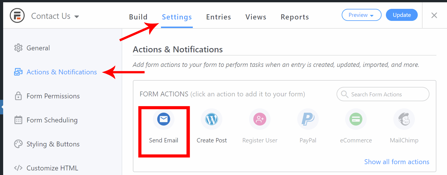 send confirmation emails in WordPress